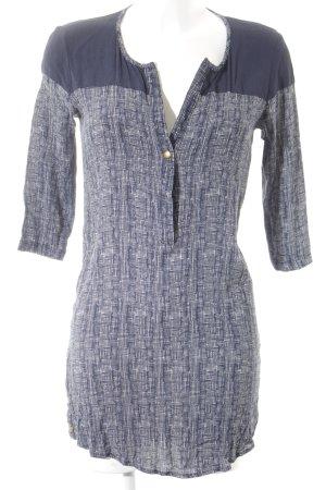 Marie Sixtine Long-Bluse dunkelblau-weiß Business-Look