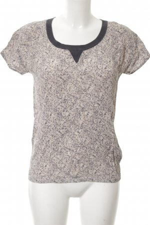 Marie Sixtine T-Shirt blau-wollweiß abstraktes Muster Casual-Look