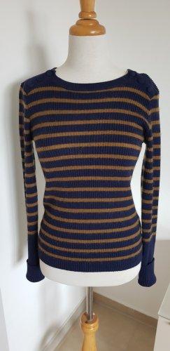 Marie Sixtine Woll Pullover gestreift blau Gr.XS