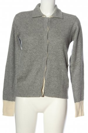 marie valois Cashmere Jumper light grey flecked casual look
