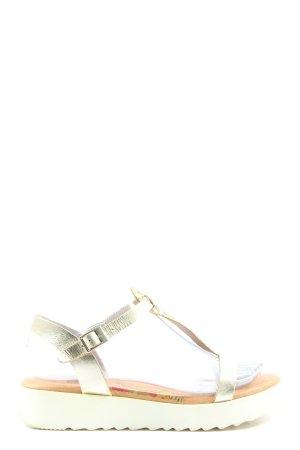 Marila Sandalias Dianette color oro brillante