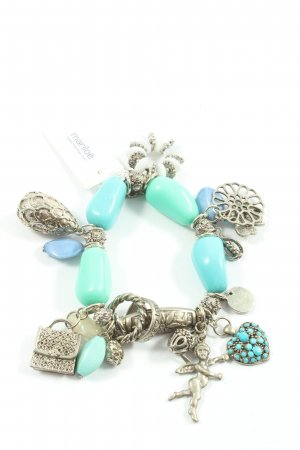 Mariloé Charm Bracelet silver-colored-turquoise casual look