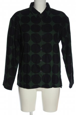 Marimekko Blouse Jacket khaki-black spot pattern casual look