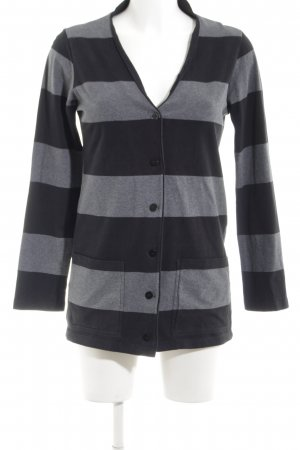 Marimekko Cardigan schwarz-silberfarben Streifenmuster Casual-Look