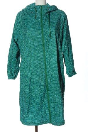 Marimekko Imperméable bleu-vert motif abstrait élégant