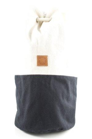 Beuteltasche weiß-schwarz Casual-Look