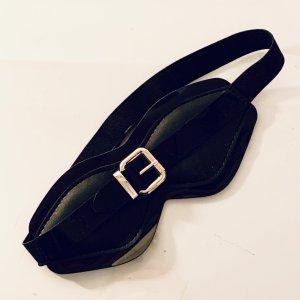 Marina Hoermanseder x Amorelie Schlafbrille Maske Schlafmaske Lack schwarz gold