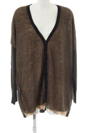 Marina Rinaldi Cardigan bronzefarben Casual-Look