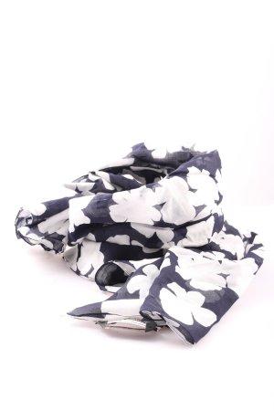 Marina Rinaldi Fazzoletto da collo nero-bianco motivo astratto stile casual