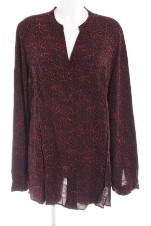 Marina Rinaldi Langarm-Bluse schwarz-rot Allover-Druck Casual-Look