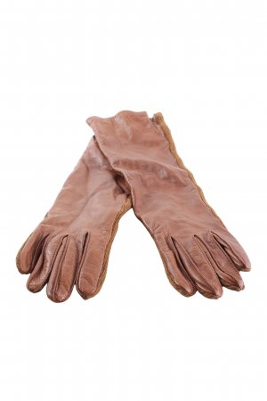 Marina Rinaldi Leather Gloves brown casual look