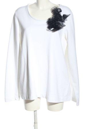 Marina Rinaldi Rundhalspullover weiß-schwarz Casual-Look
