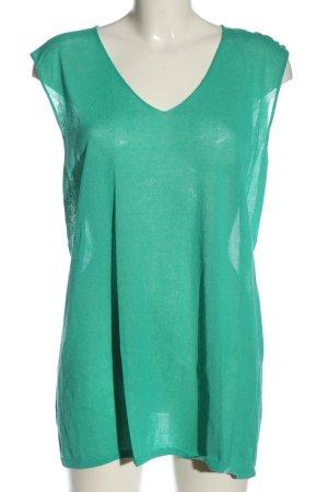 Marina Rinaldi Gebreide top groen casual uitstraling
