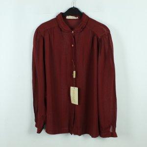 MARINA RINALDI Vintage Bluse Gr. 25 (46) dunkelrot (20/03/228)