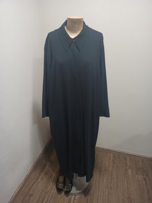 Marina Rinaldi Geklede jurk donkergrijs-antraciet