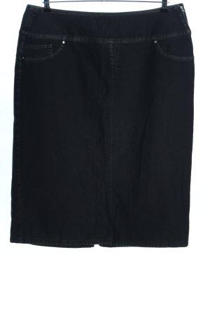 Marina Sport Falda vaqueras negro look casual