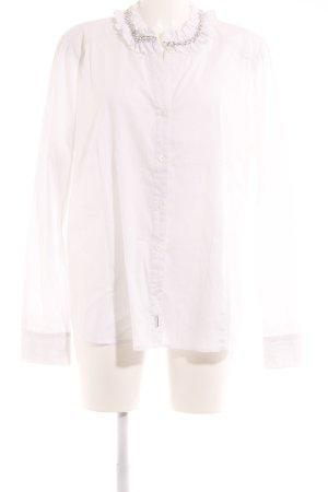 Marina Sport Langarm-Bluse wollweiß Business-Look