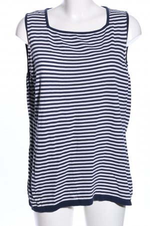 Marina Sport Knitted Top blue-white striped pattern casual look