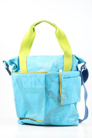 Marina Tote blau-blassgelb Allover-Druck Casual-Look