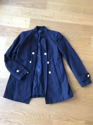 Marine blaue Jacke mit goldenen Knöpfen Zara Größe XS