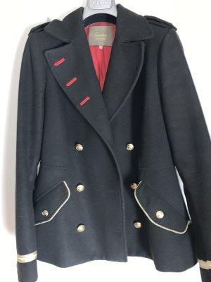 encadée Chaqueta estilo naval negro-rojo