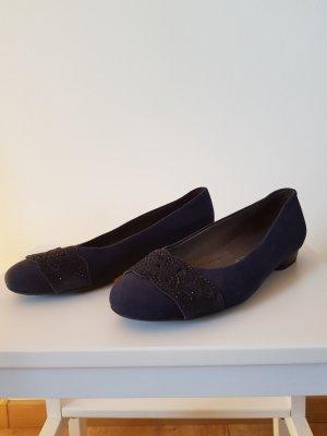 Marineblaue Ballerinas von Jenny für Jugendweihe oder Konfirmation