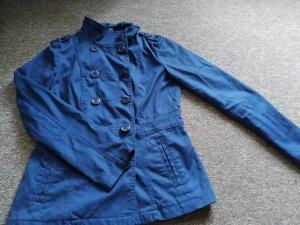 H&M Veste de marin bleu coton