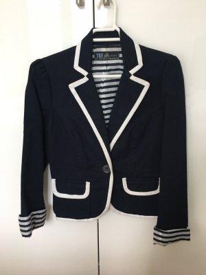 Zara Trafaluc Veste de marin bleu foncé