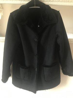 Fur Jacket dark blue