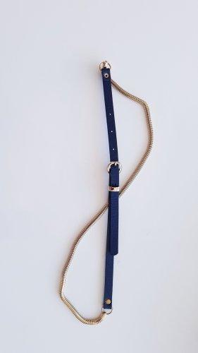 Promod Cintura in ecopelle oro-blu scuro