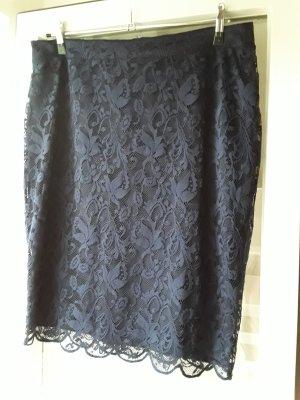 Falda de encaje azul