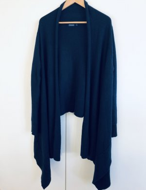 Gosche Knitted Wrap Cardigan blue cashmere