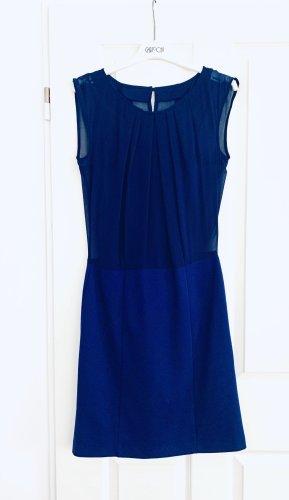 Vestido corte imperio azul oscuro-azul tejido mezclado