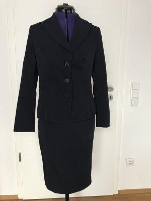 Class International Ladies' Suit dark blue polyester