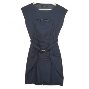 Marineblaues Twin-Set Kleid