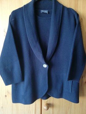 Peter Hahn Sweater Twin Set dark blue cotton