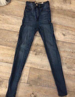 Marinenblaue High Waist Jeans