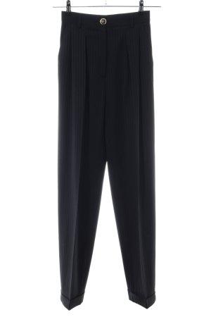 Mario Borsato Pantalone a pieghe nero motivo a righe stile casual