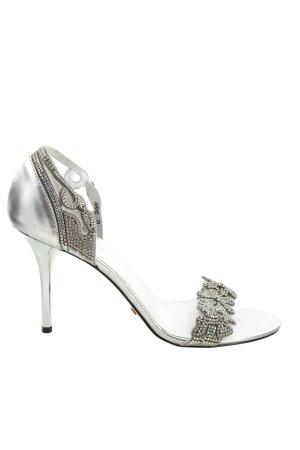 Mario ROSSINI High Heel Sandaletten silberfarben Elegant