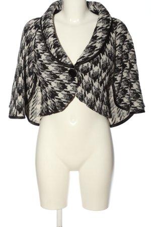 Mario Serrani Poncho black-natural white striped pattern casual look
