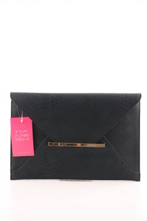 Mario Valentino Clutch schwarz Animalmuster Business-Look