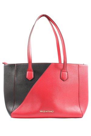 Mario Valentino Henkeltasche schwarz-rot Business-Look