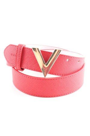 Mario Valentino Ledergürtel pink-goldfarben Casual-Look