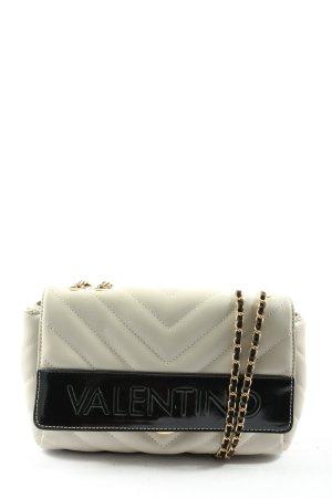 Mario Valentino Umhängetasche wollweiß-schwarz Steppmuster Elegant