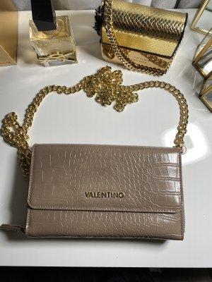 Mario Valentino Umhängetasche/ Portemonnaie beige Gold