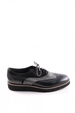 Maripé Richelieu noir-gris clair style décontracté