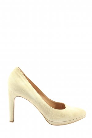 Maripé High Heels creme klassischer Stil