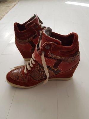 Maripé Leder Wedges Sneaker mit Keilabsatz Gr. 38,5