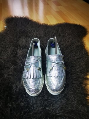 Maripé Slippers white-silver-colored