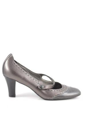 Maripé Escarpins Mary Jane gris clair-bronze élégant
